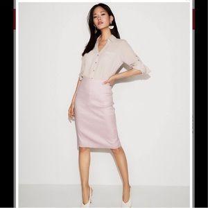 Express linen lavender skirt